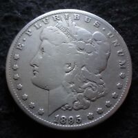 1895-S MORGAN SILVER DOLLAR - CHOICE G DETAILS  FROM THE SAN FRANCISCO MINT