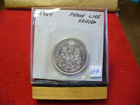 1964 CANADA SILVER HALF  DOLLAR TOP GRADE  50 CENT PIECE  64A  PROOFLIKE  SEALED