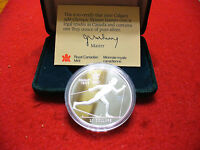 1988 CALGARY OLYMPICS SILVER 20$ COIN CANADA   SKIING   PROOF