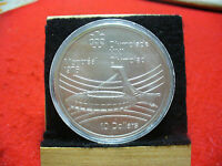 1976 MONTREAL OLYMPICS SILVER 10$ COIN CANADA  OLYMPIC STADIUM   B.U.