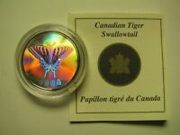 2004 PROOF 50 CENTS BUTTERFLY 1 TIGER SWALLOWTAIL CANADA COIN&COA ONLY FIFTY SI