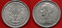 FRENCH WEST AFRICA : 2 FRANCS 1948 NICE ALUMINUM COIN FRENCH COLONY KM 4