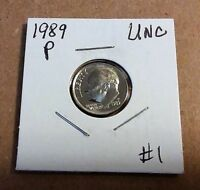 SET OF UNCIRCULATED 1989 P AND D DIME  $0 99