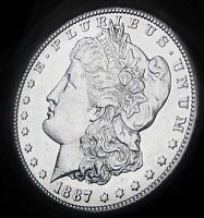1887-S MORGAN DOLLAR - ALMOST UNCIRCULATED - BETTER DATE MORGAN - FAST SHIPPING