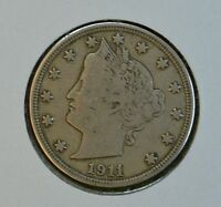 1911 LIBERTY HEAD CIRCULATED NICKEL  F-VF DETAILS SEE STORE FOR DISCOUNTS BR03