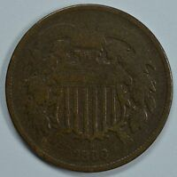 1866 SHIELD 2 CENT COIN  VG DETAILS  SEE STORE FOR DISCOUNTS BR03