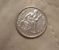 1891 SEATED LIBERTY 10 CENTS: WHITE SURFACES-NO BLEMISHES-FULLY STRUCK-HIGH END