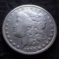 1893-O MORGAN SILVER DOLLAR - SOLID VF DETAILS KEY FROM THE NEW ORLEANS MINT