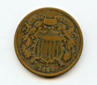1864 TWO CENT   GOOD     HUCKY