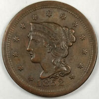 1852 BRAIDED HAIR LIBERTY HEAD LARGE CENT -  US COPPER COIN