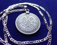 1928  1936 ENGLISH GEORGE V SILVER FLORIN PENDANT ON 24