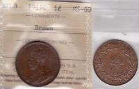 1917C ICCS MS60 1 CENT BROWN NEWFOUNDLAND NFLD NF ONE PENNY LARGE