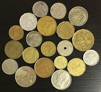 LOT OF 20 DIFFERENT WORLD COINS   C25