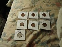 NEW ZEALAND 10 CENT COINS LOT OF 7 87 12