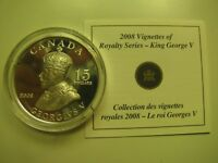 2008 PROOF $15 VIGNETTES 3 GEORGE V ULTRA HIGH RELIEF COIN&COA ONLY CANADA 925