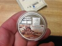 ATTACK ON PEARL HARBOR SILVER CLAD AMERICAN MINT MEDAL WITH COAY WWII