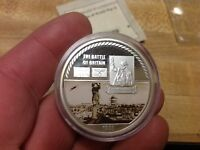 THE BATTLE OF BRITAIN SILVER CLAD AMERICAN MINT MEDAL WITH COAY WWII