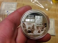 THE BATTLE OF THE BULGE SILVER CLAD AMERICAN MINT MEDAL WITH COAY WWII
