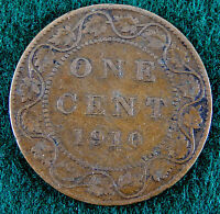 1910 CANADA LARGE 1 CENT COIN  SB3013