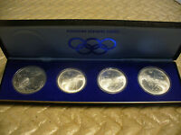 1976 MONTREAL OLYMPICS SILVER CANADA COINS SET OF 4  SERIES VI 30$ FACE VALUE