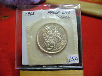 1965 CANADA SILVER HALF  DOLLAR TOP GRADE  50 CENT PIECE  65A  PROOFLIKE  SEALED