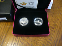 2017  30TH ANNIVERSARY OF THE LOONIE 2 COIN SET FINE SILVER  CANADA  99.99 PURE