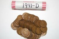 ONE ROLL 1941-D WHEAT PENNIES