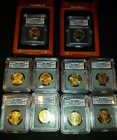 10 COIN 2007 P & D DOLLAR SET, 1ST DAY OF ISSUE ICG-SATIN FINISH 69