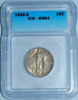 1930 S ICG MINT STATE 64 STANDING LIBERTY QUARTER