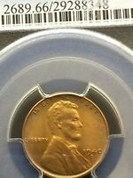 1940D  MINT STATE LINCOLN WHEAT CENT. PCGS GRADED MINT STATE 66RD.