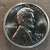 1943 S 1C ONE CENT LINCOLN STEEL WHEAT EARS ANACS MINT STATE 66