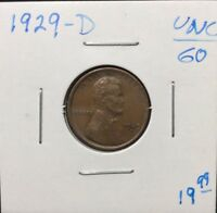 1929-D 1C BN LINCOLN CENT IN UNCIRCULATED CONDITION