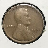 1924-D 1C LINCOLN CENT, SEMI-KEY DATE 36734