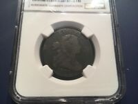 1801 DRAPED BUST LARGE CENT, NGC VG8