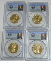 2014 P&D FRANKLIN D. ROOSEVELT PRESIDENTIAL DOLLAR SET  PCGS MINT STATE 65 POSITION A&B