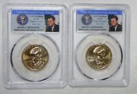 2015 D KENNEDY PRESIDENTIAL DOLLAR SET PCGS MINT STATE 67 POSITION  A&B 2 COIN SET