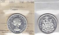 1963 ICCS PL66 50 CENTS CAMEO CANADA FIFTY HALF DOLLAR SILVER