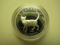 1999 PROOF 50 CENTS DISCOVERING NATURE 5 1 TONKINESE CANADA FIFTY SILVER COIN O