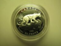 1999 PROOF 50 CENTS DISCOVERING NATURE 5 4 COUGAR CANADA FIFTY SILVER COIN ONLY
