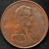 NO DATE STRUCK THROUGH GREASE LINCOLN CENT