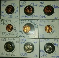 9  US MINT ERROR COINS MUST SEE LOT