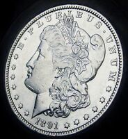 1891  MORGAN SILVER DOLLAR   ALMOST UNCIRCULATED   FAST COIN SHIPPING
