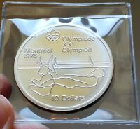 1975 BU $10 1976 MONTREAL OLYMPICS 19 SAILING 92.5  STERLING SILVER CANADA