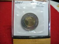 2001  CANADA 2$ TWO  DOLLAR  COIN  TOONIE  SEE PHOTOS  01  PROOF LIKE  SEALED