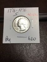 1776 1976 S SILVER WASHINGTON QUARTER BU 620
