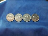 CANADA 1962 63 64 & 65 5 CENT COIN LOT OF 4 BEST PRICE   SHIPS FREE TO US
