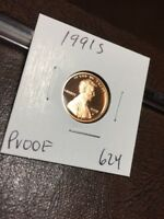1991 S LINCOLN CENT PROOF 624