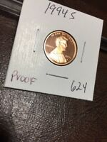 1994  S LINCOLN CENT PROOF 624
