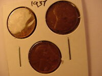 1937 WHEAT PENNY SET PDS FINE OR BETTER CENTS