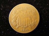 1870 TWO CENT PIECE - VG  - GREAT COIN  2C COIN